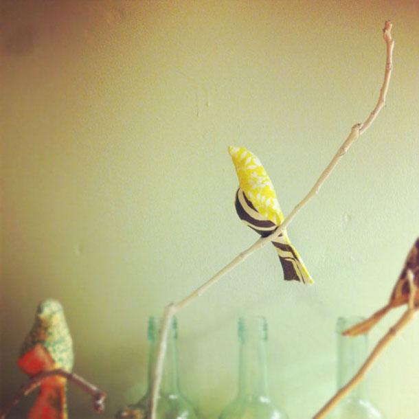 wedding, home, nursery handmade bird decorations
