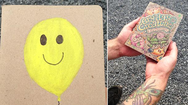 sketchbook project: colorful sketchbooks
