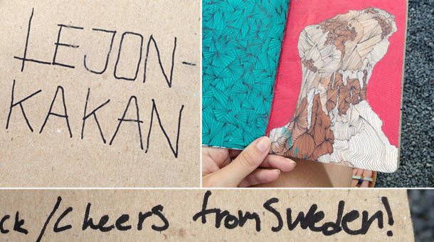 this sketchbook project came from sweden!