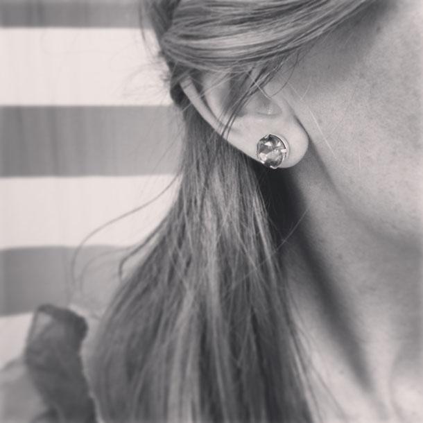 faceted czech glass earrings from etsy
