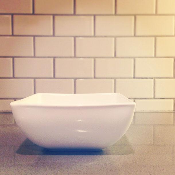 white square bowl | a simple, pretty prop