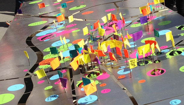 memory art interactive installation at artspark | downtown raleigh, north carolina
