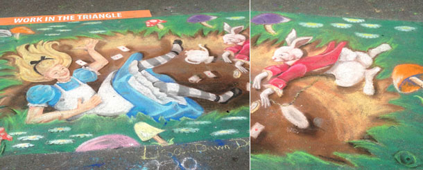 artspark chalk drawing | alice in wonderland