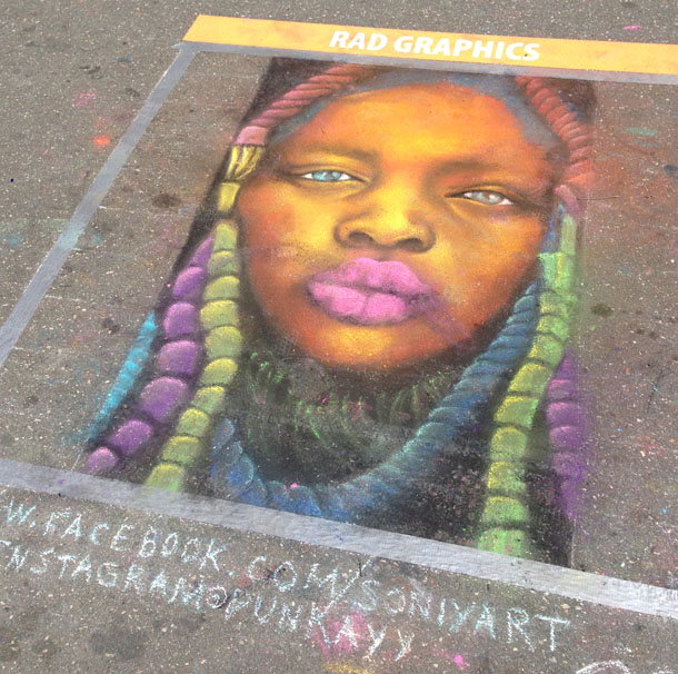 artspark chalk drawing | portrait
