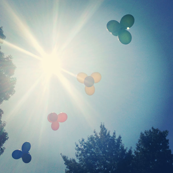 lazy daze balloons  |  such a pretty day!