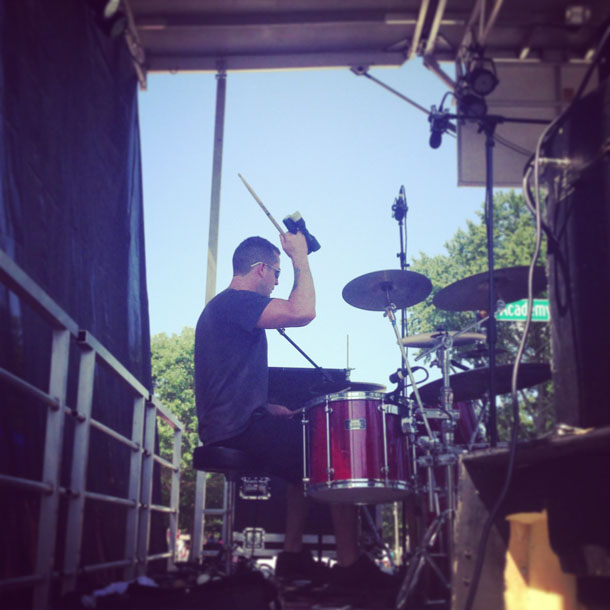 matt playing drums for ofk