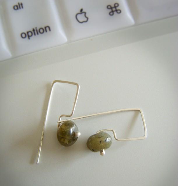grossular garnet + sterling silver alt earrings