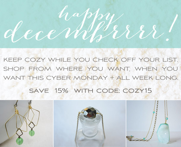 cyber monday promo + special for this week only!
