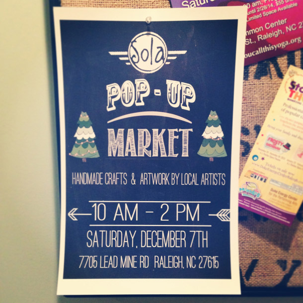 pop up holiday market at sola coffee