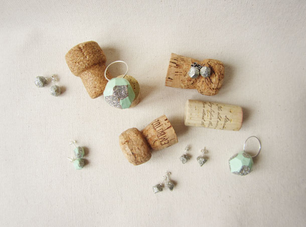 the POP collection: recycled cork jewelry from bird + beau