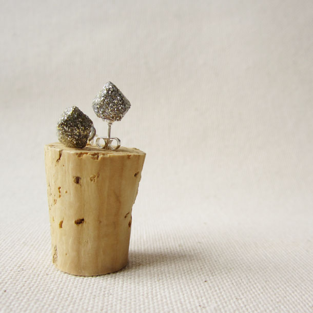 POP collection: glitter recycled cork jewelry set by bird + beau