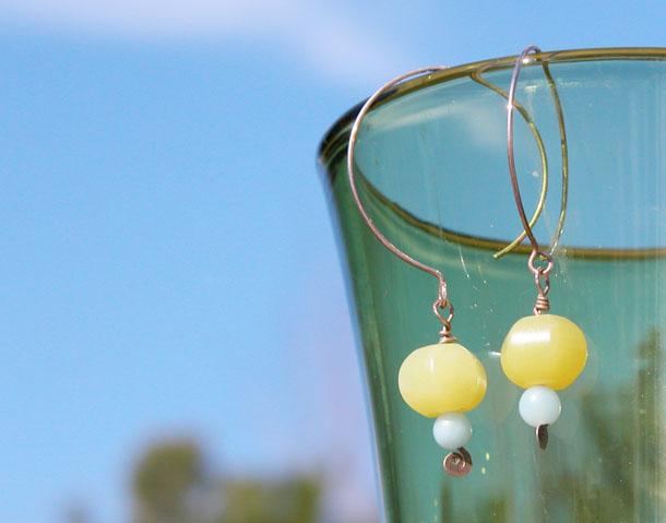 tbt: jade + sterling silver earrings
