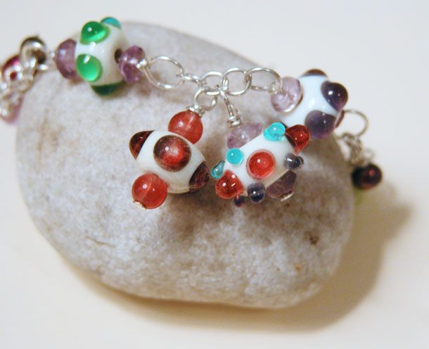tbt: lampwork beaded bracelet trio