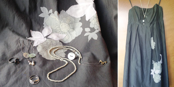 wedding style | gap dress and delicate accessories