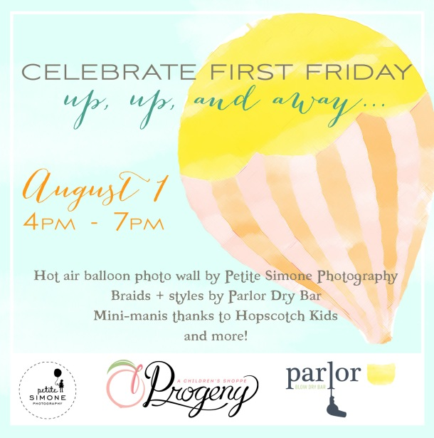 august first friday at progeny shoppe