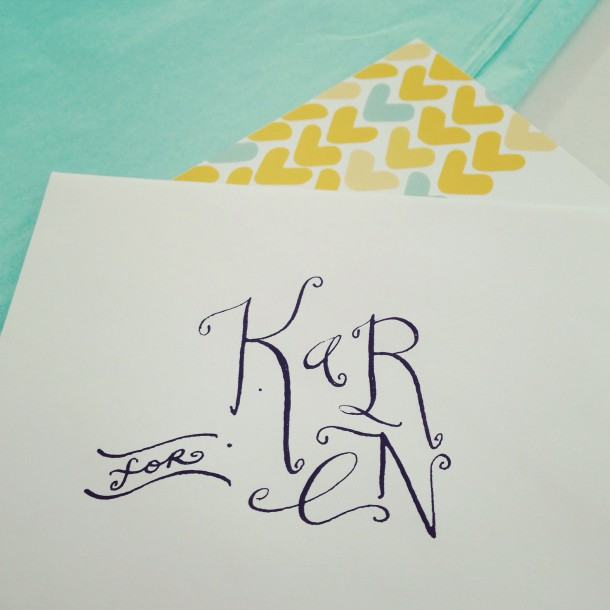 real calligraphy! i did it.