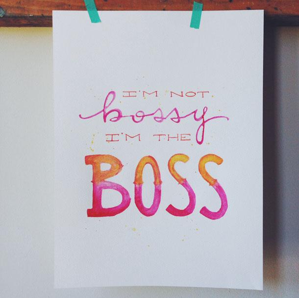 bossy print