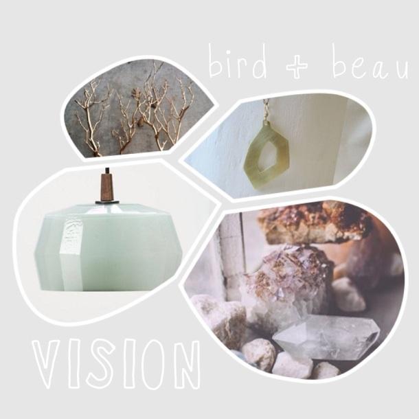 bird + beau vision board