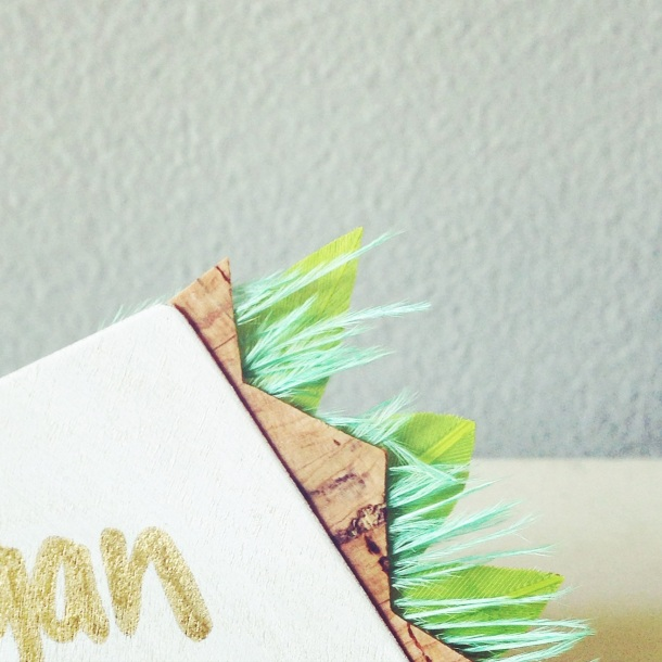 modern handcrafted name tag