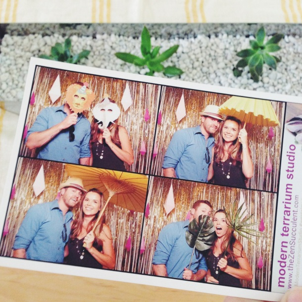 shutter booth pic with my hubby from the modern terrarium studio party